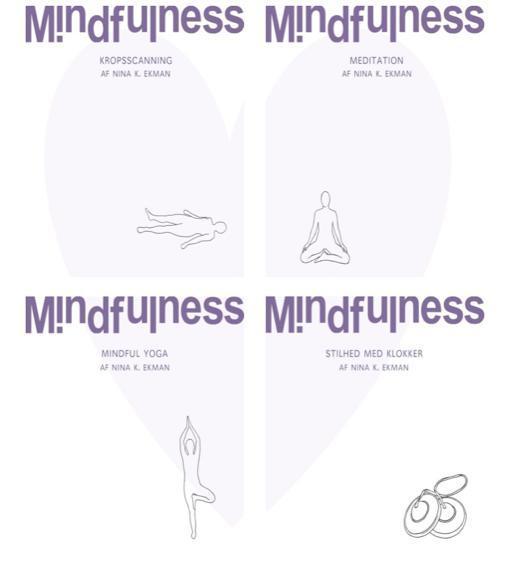 N/A Nina ekman -  4 mindfulness lydbøger sampak (mindfulhouse) fra mindly.dk