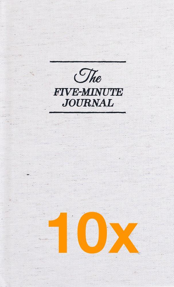 Image of   10 x The Five Minute Journal (Pakketilbud)