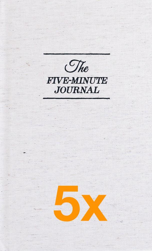 Image of   5 x The Five Minute Journal (Pakketilbud)