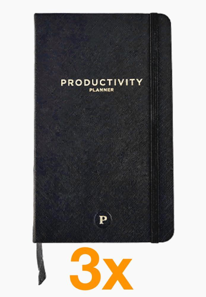 Image of   3 x Productivity Planner (Pakketilbud)