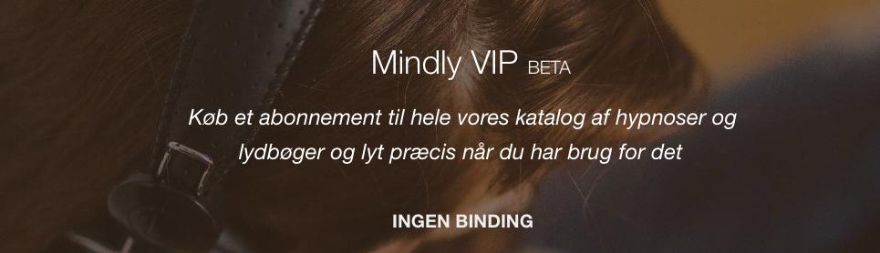 Mindly VIP abonnement header